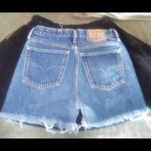 DIESEL Women's HOT PANTS Shorts Blue Size 28